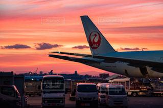 羽田空港夕焼けの写真・画像素材[1551201]