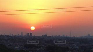 新宿方面の朝日の写真・画像素材[1147138]