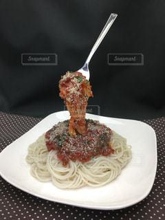 お皿のスパゲティ - No.764064