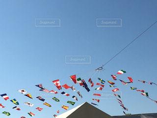 空中に凧の飛行の人々 のグループ - No.739368