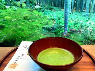 竹林に囲まれて抹茶の写真・画像素材[739602]