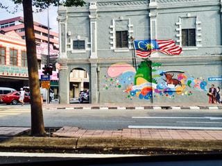 マレーシア ストリートアートの写真・画像素材[740854]