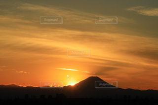 夕焼け空と富士山の写真・画像素材[935023]