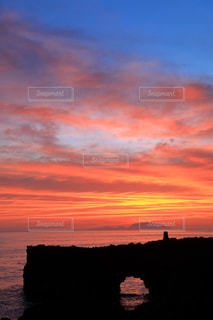 三宅島からの夕焼け空の写真・画像素材[939570]