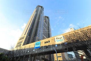 夕焼けに染まる東京都庁の写真・画像素材[942737]