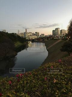 オフィス街を眺める皇居周辺の写真・画像素材[943633]