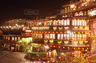 台湾 九份の街明かりの写真・画像素材[947448]
