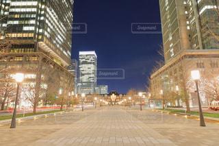 夜の東京駅行幸通りの写真・画像素材[953830]