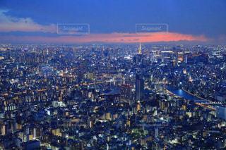 東京スカイツリー天望デッキからの東京夜景の写真・画像素材[993543]