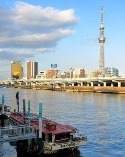屋形船と東京スカイツリーの写真・画像素材[1778297]