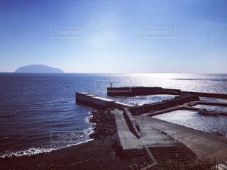 三宅島から見える御蔵島の写真・画像素材[1778326]