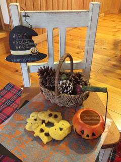 ハロウィンとかぼちゃクッキーの写真・画像素材[827358]
