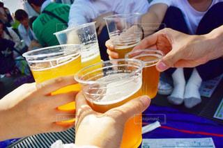 ビールまつりで乾杯の写真・画像素材[739493]