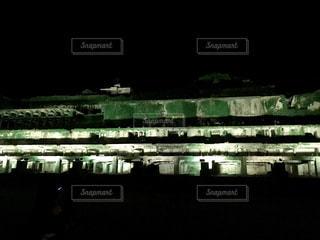北沢浮遊選鉱場のライトアップの写真・画像素材[1427839]