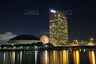 福岡シーサイドももちマリゾン夜景の写真・画像素材[745170]