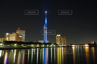 福岡シーサイドももちマリゾン夜景の写真・画像素材[745172]