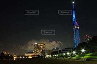 福岡シーサイドももちマリゾン夜景の写真・画像素材[745178]