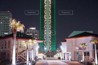 福岡タワー夜景【グリーン版】の写真・画像素材[1136109]