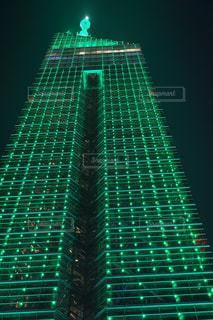 福岡タワー夜景【グリーン版】の写真・画像素材[1136110]