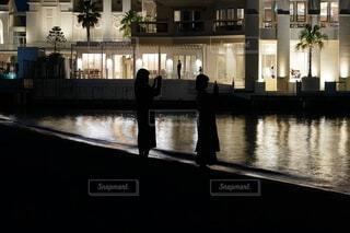 シーサイドももち マリゾンの夜景の写真・画像素材[3654832]