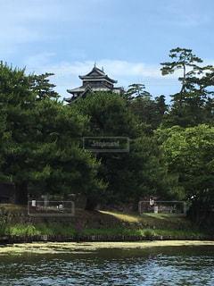 松江城と水面の写真・画像素材[739932]