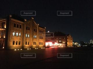 赤レンガ倉庫ライトアップの写真・画像素材[1397476]