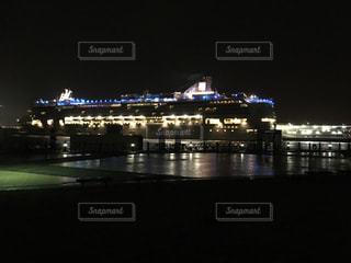 船と夜景の写真・画像素材[1397477]