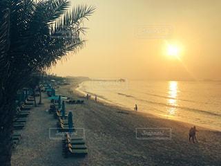 砂浜を歩いている人のグループの写真・画像素材[740229]