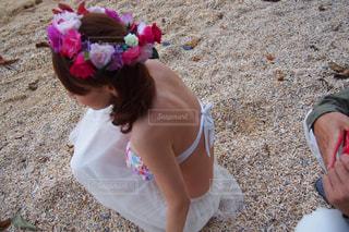 砂浜での写真・画像素材[741089]