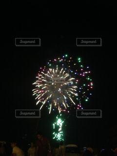 夜空の花火の写真・画像素材[741970]