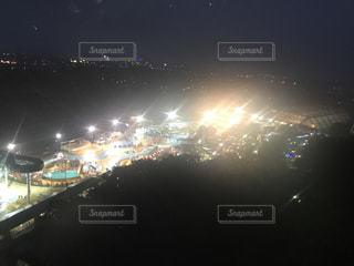 夜の街の景色の写真・画像素材[742146]