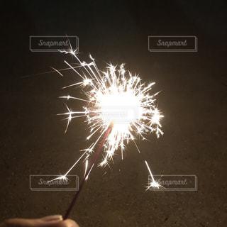 空に花火の写真・画像素材[771028]