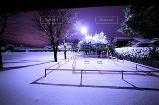 積雪の公園 - No.742747