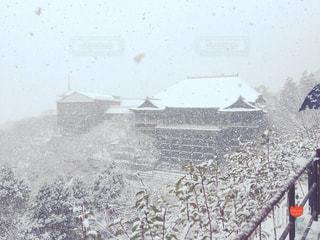 雪の清水寺の写真・画像素材[743165]