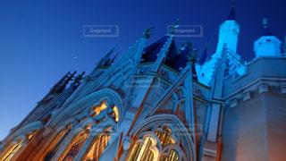 夜のディズニーランドの写真・画像素材[743969]