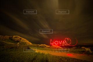 ペンライトアート「LOVE」の写真・画像素材[744979]