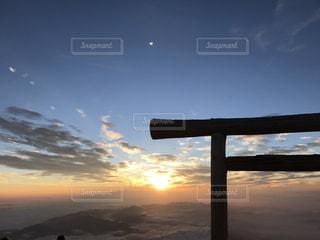 富士山からの御来光の写真・画像素材[1651302]