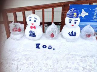 雪の中では、ぬいぐるみの動物のグループの写真・画像素材[744592]