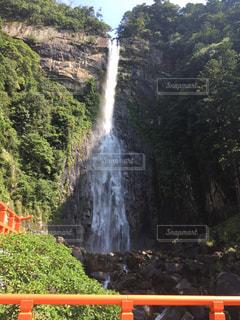 森の中の大きな滝の写真・画像素材[748186]