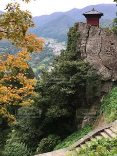 背景の山と木の写真・画像素材[842166]