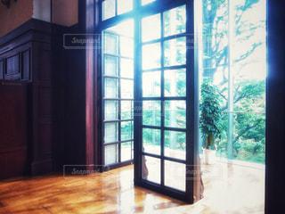大きなガラス窓の写真・画像素材[1286449]