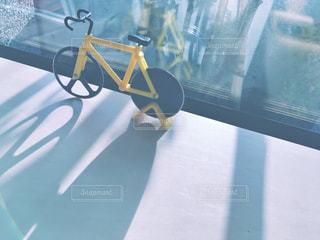 自転車のクローズアップの写真・画像素材[2417632]