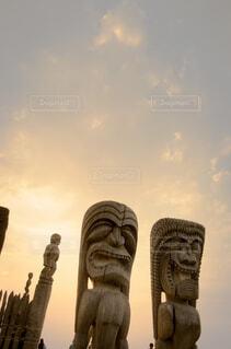 ハワイの夕暮れの写真・画像素材[4434779]