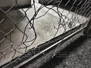 破れた金網の写真・画像素材[747216]