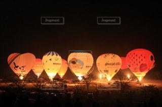 バルーンのライトアップの写真・画像素材[745944]