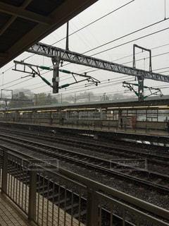 雪降る駅の写真・画像素材[748665]