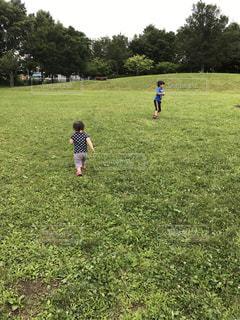 公園で遊ぶ子供たち - No.748446