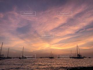 イビサ島の夕日の写真・画像素材[748580]