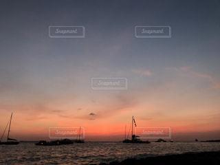 イビサ島の夕日の写真・画像素材[748590]