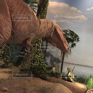 水体の恐竜の写真・画像素材[748825]